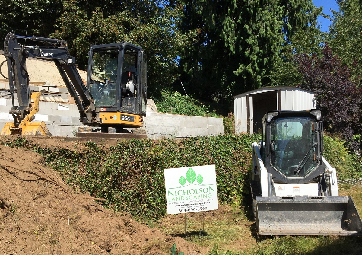 Maple Ridge Dump >> Excavation and Bobcat Work - Nicholson Landscaping ...